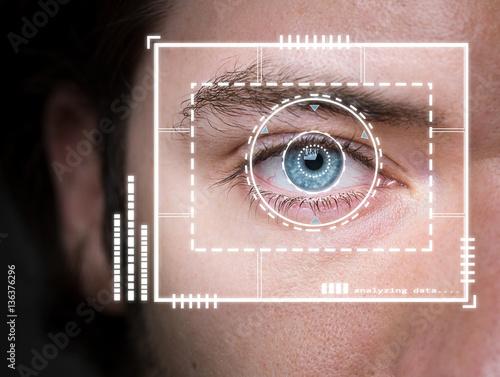 Photo Biometric security scan