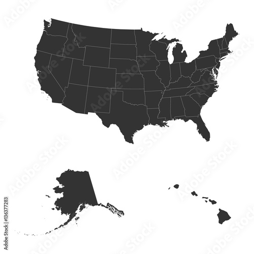 The detailed map of the USA including