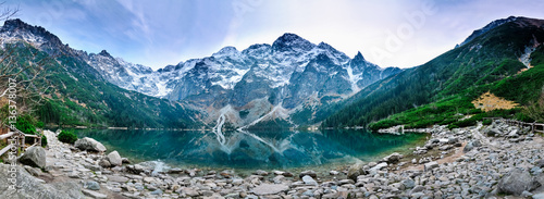 Fototapeta Polish Tatra mountains Morskie Oko lake obraz