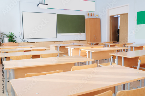 Fotografía  Interior of a school class