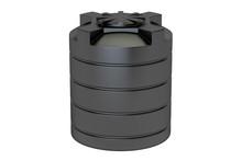Plastic Black Water Tank Closeup, 3D Rendering