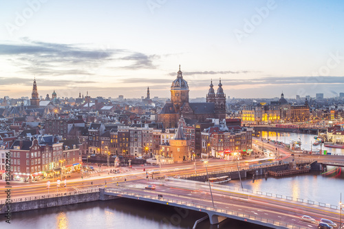 Poster Amsterdam Amsterdam skyline