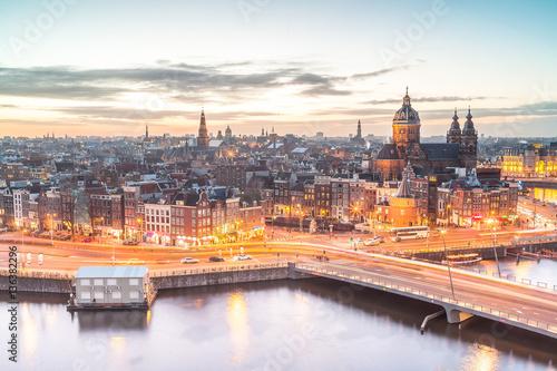 Canvas Prints Amsterdam Amsterdam horizon