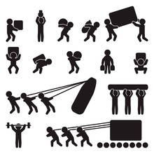 People Icon Set. People Carryi...
