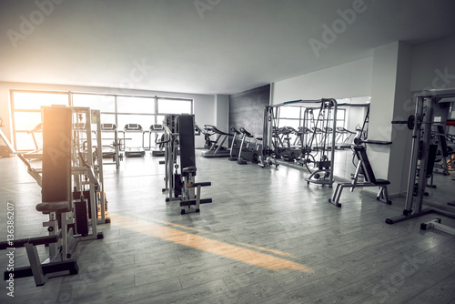 Recess Fitting Fitness Empty modern gym