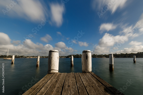 Photo sur Aluminium Ville sur l eau Sydney, jetty at Birchgrove