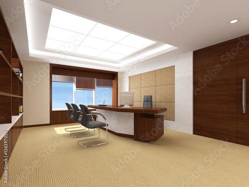 Fényképezés  modern office interior 3d rendering