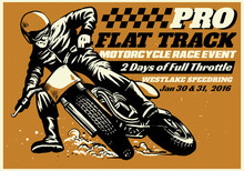 Flat Track Motorcycle Race Eve...