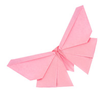 Pink Butterfly Of Origami