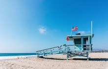 Baywatch Tower On A Venice Beach In Los Angeles USA