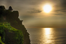 Uluwatu Temple Located On The Cliff At South-western Tip Of Bali, Indonesia