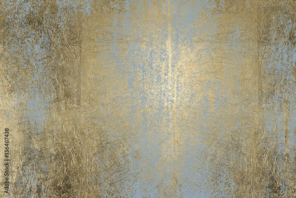 Fototapety, obrazy: scratched golden foil texture