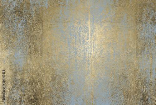 Fototapeta scratched golden foil texture obraz