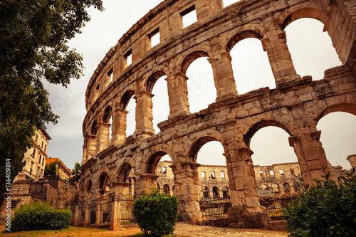 In de dag Palermo ancient arena in Pula, Croatia