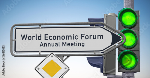 Photo  Singpost WEF Annual Meeting symbolic image