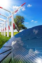 Solar Panel And Wind Turbines ...