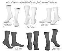 Basketball Socks. Front. Side ...