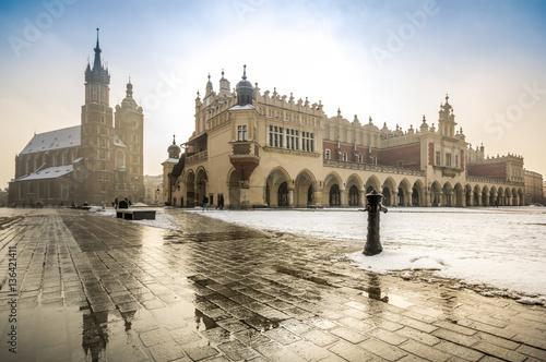 Fototapeta Market square of Krakow, Poland obraz