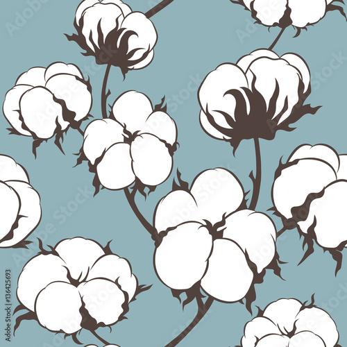 wektorowy-bezszwowy-wzor-z-bawelniana-roslina-oddzialy-z-kwiatow-tla