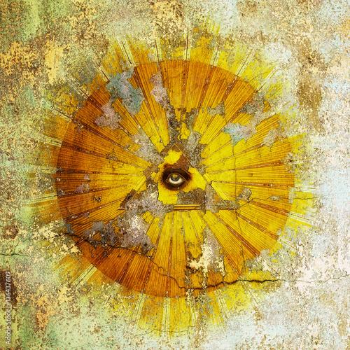 Fotografia, Obraz  All-seeing eye