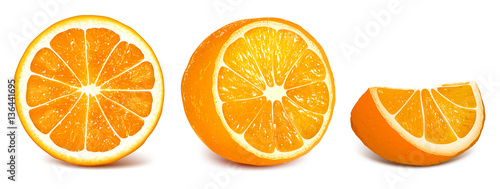 Cuadros en Lienzo  Set of vector illustration oranges