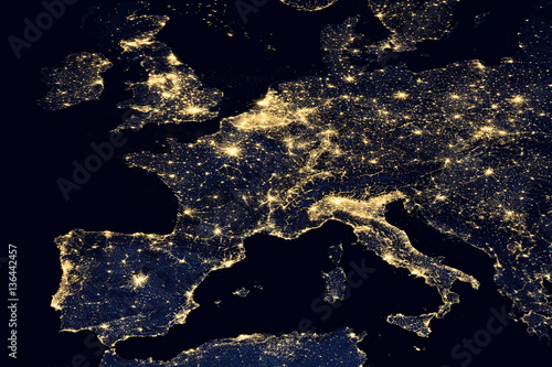 City lights on world map europe buy this stock photo and explore city lights on world map europe gumiabroncs Image collections