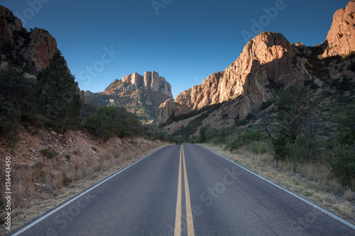 Road in the Big Bend National Park, Texas, USA Canvas Print