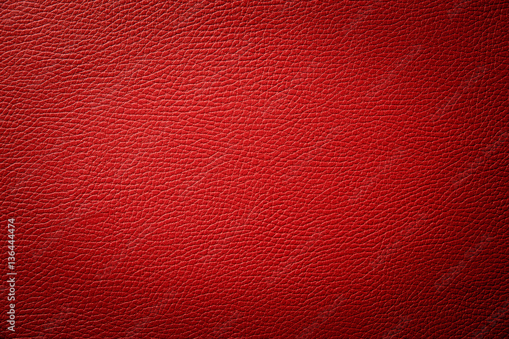 Fototapeta red leather texture background