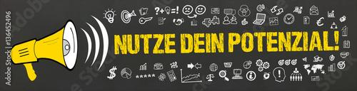 Fotografía  Nutze Dein Potenzial! / Megafon mit Symbole