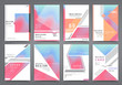 Business brochure 2017 vector set. Applicable for Banners, Placards, Posters, Flyers, cover design annual report, magazine, in A4 format. Modern geometric background template