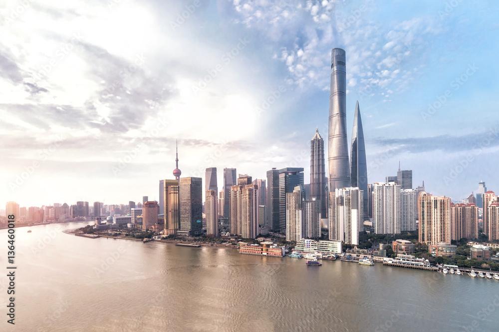 Wall Murals Shanghai Skyline And Cityscape Nikkel Art