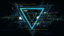 Tech Futuristic Abstract Backgrounds, Colorful Triangle