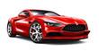 Leinwandbild Motiv Elegant red sport coupe