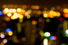 Colorful Bokeh Of Cityscape