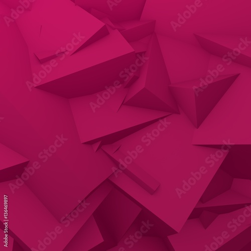 3D geometric abstract background. Pink, purple colors. #136469897