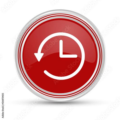 Fotografie, Obraz  Roter Button - Wartezeit - Time