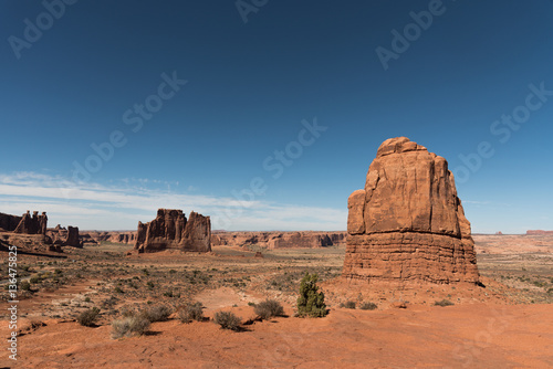 Photo Stands Egypt Beautiful landscape made of red rocks.Arches National Park, Utah, USA.