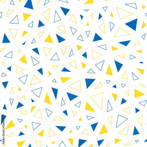 Tapeta ścienna na wymiar Seamless abstract vector pattern with irregular triangles