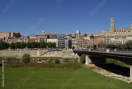 General View of Lleida, Catalonia, Spain