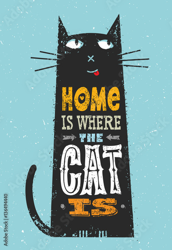 dom-jest-tam-gdzie-jest-kot-smieszne-cytaty-o-zwierzetach-wektorowy-znakomity