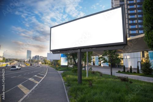 Obraz Banner billboard mockup for advertising in city useful for design - fototapety do salonu