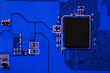 canvas print picture - Closeup of electronic circuit board with processor