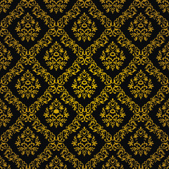 Panel Szklany Ornamenty floral ornaments luxury background