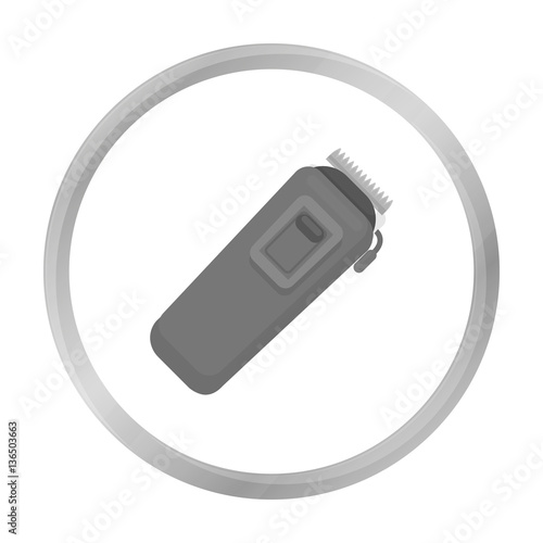 Electrical trimmer icon in monochrome style isolated on white