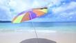 美しい沖縄の海と夏空