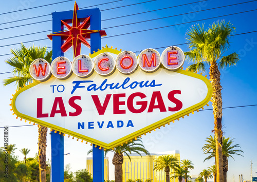 Keuken foto achterwand Las Vegas Welcome to Fabulous Las Vegas Neon Sign