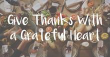 Thnaksgiving Blessing Celebrating Grateful Meal Concept