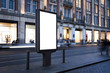 canvas print picture - Digital outdoor advertising kiosk