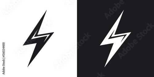 Vector lightning icon Poster Mural XXL