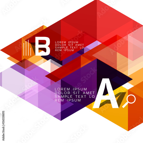 Abstract triangles and lines vector Wall mural